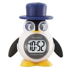 With its adorable formal penguin design, this talking penguin clock will be loved by children and adults alike as a cool way to tell time and wake up with its trusty alarm. This cool looking digital a