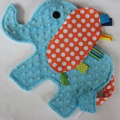 Circus Fun Elephant Sensory Lovey by IcingOnTheCupcake on Etsy