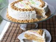 Torta Pompadour de plátano - En Mi Cocina Hoy