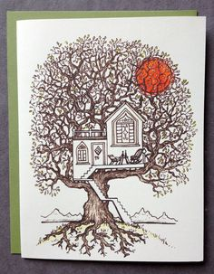 Hey, I found this really awesome Etsy listing at https://www.etsy.com/listing/157511302/dream-tree-house-new-home-moving-new
