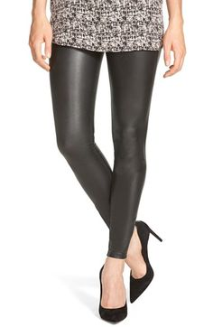 Free shipping and returns on Hue Faux Leather Leggings at Nordstrom.com. Lightweight faux-leather leggings offer a sleek and comfortable look with functional back pockets and slim tailoring through the legs.