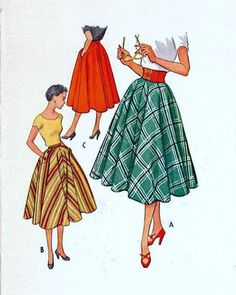 McCall's 9004 UNCUT Vintage Sewing Pattern by midvalecottage Vintage Dress Patterns, Skirt Patterns Sewing, Vintage Skirt, Clothing Patterns, Vintage Dresses, Vintage Outfits, Pattern Sewing, Vintage Clothing, Vintage Wardrobe