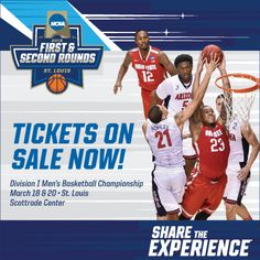 Scottrade Center in St. Louis has been selected as a site for the first and second round of the 2016 NCAA Men's Basketball Champonship. Ncaa Final Four, Men's Basketball, Baseball Cards, Sports, Hs Sports, Sport