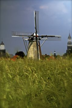 Holland Fields  The windmill of Ootmarsum in the Netherlands by Wilco Westerduin
