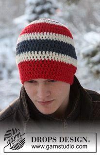 "Gorro DROPS en ganchillo / crochet en ""Alaska"". ~ DROPS Design"