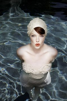 Emma Stone photographed by Kurt Iswarienko for Glamour Italy (July Pretty People, Beautiful People, Beautiful Women, Beautiful Life, Pinup, Retro Swim, Vintage Swim, Vintage Lace, Actress Emma Stone