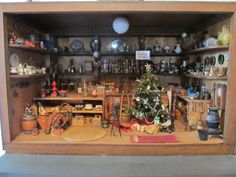 Beautiful Large Vintage Miniature General Store decorated for Christmas