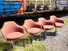 Mid Century Modern Burke Swivel Tulip Arm Chair by RetroLuxeHome, $200.00