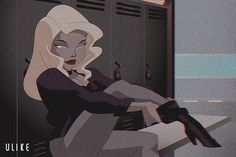 Bad Girl Aesthetic, Aesthetic Art, Aesthetic Anime, Cartoon Icons, Girl Cartoon, Lena Luthor, Vintage Heart, Black Canary, Poison Ivy