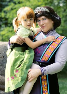 """Summer in Arendelle! by Flitzichen.deviantart.com on @deviantART - Little Anna and her mother (Queen Idun of Arendelle) from """"Frozen"""", uploaded by the latter. NOTE: This photo does feature a child in cosplay, so please re-pin responsibly. Thanks!"""