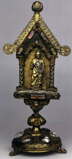 Reliquary of St Elizabeth of Hungary c. 1250 Wood, silver, precious and semiprecious stones, glass, height 58 cm The Hermitage, St. Petersburg