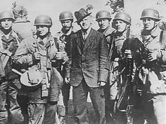 V-man (Vertrauensmann), member of the fifth column with German paratroopers on May 5th, 1940. The invasion of the Netherlands.