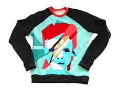 "Daniel Silverstein's David Bowie Sweatshirt is a ""Zero Waste"" Oddity   Ecouterre"
