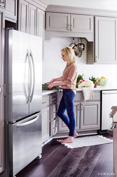 Erin Foster in her newly remodeled kitchen