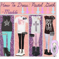 """How To Dress: Pastel Goth"" by tips-tips-tipss on Polyvore"