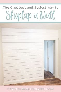 The Cheapest and Easiest Way to DIY Shiplap – Crystel Montenegro at Home - Modern White Shiplap Wall, Faux Shiplap, Shiplap Diy, Shiplap Wall Paper, Fixer Upper Shiplap, White Plank Walls, Shiplap Headboard, Shiplap Paneling, Painting Shiplap