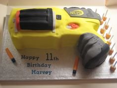 NERF Gun Cake   Flickr - Photo Sharing!