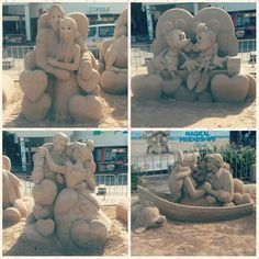 'Love is in the air' sand sculptures