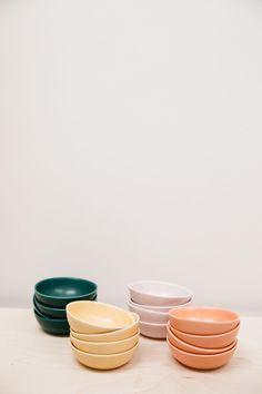 Ice Cream Bowls Modern Handmade Ceramics Set of Four Small   Etsy