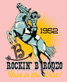 Image of LADIES Rockin B Rodeo Tee