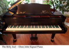Yamaha Grand piano autographed by ELTON JOHN and BILLY JOEL!!