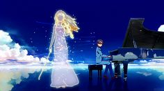 *SPOILER* 'Your Lie in April' Kaori and Kousei begin their last performance