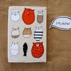 Cuaderno gato: con animales en aplicaciones - Cat Notebook : Lovely Stella Journal with animal appliques