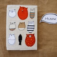 Cat Notebook : Lovely Stella Journal with animal appliques