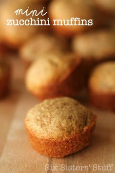 Healthy Mini Zucchini Muffins are a great way to put that zucchini to use!