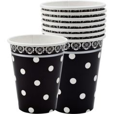 Damask & Polka Dots Paper Cups - Party City Canada