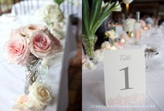 Table number and flowers