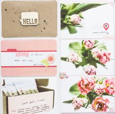 LOVE the colors of this PL spread...so simple, so fantastic! week 13 a by all-that-scrapbooking at @Studio_Calico