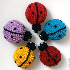 """Ladybug (there is a pattern but it is in """"tablespoons"""" – look easy enough if you just follow a round head pattern and use the picture as your guide)"""