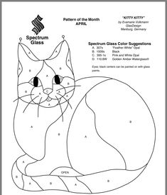 Use free cat templates for crafts, artwork or classroom projects, stained glass patterns or pumpkin carving. This cat template collection will make terrific patterns for quilting appliqués, coloring pages, clip art or wood scrollwork. Stained Glass Patterns Free, Stained Glass Quilt, Faux Stained Glass, Stained Glass Designs, Stained Glass Projects, Cat Quilt Patterns, Applique Patterns, Mosaic Patterns, Applique Quilts