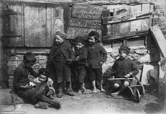 Thsi photograph of impoverished children in Penzance, taken around 1890, forms part of an incredible archive of photographs of the real Poldark country, which reveals the grinding poverty of historic Cornwall