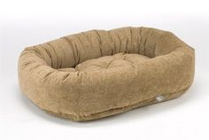 Diamond Microvelvet Donut Pet Bed - Paisley-Cedar (Large: 42 x 32 x 9 in.) ** Click image to review more details.