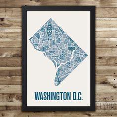 Washington D.C. Neighborhood Map Print, washington dc wall art, washington dc typography map, washington dc poster, washington dc gift by FlyingJunction on Etsy https://www.etsy.com/listing/264160638/washington-dc-neighborhood-map-print