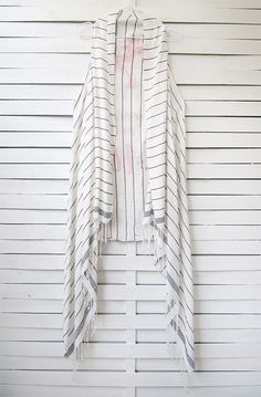 73ea9d68b67 0373.0101 MAY YOUR LIFE BE A BEACH duster vest This thin-striped peshtemal  dress has