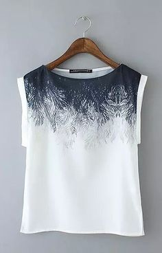 Specifications: Decoration: Button Clothing Length: Regular Pattern Type: Print Sleeve Style: Regular Style: Fashion Fabric Type: Chiffon Material: Polyester Collar: O-Neck Sleeve Length: Sleeveless S