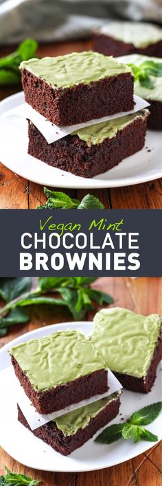 Vegan Mint Chocolate Brownies