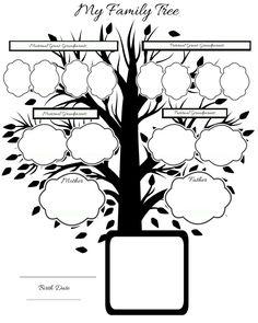 54 New Ideas Family Tree Drawing Free Printable Family Tree Research, Family Tree Chart, Free Family Tree, Family Trees, Family Tree Drawing, Pedigree Chart, Tree Templates, Daisy Girl Scouts, Family Genealogy