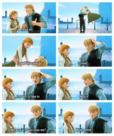 Anna and Kristoff - They're so cute together <3