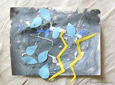 Weather Activities for Kids: Thunderstorm Art Project