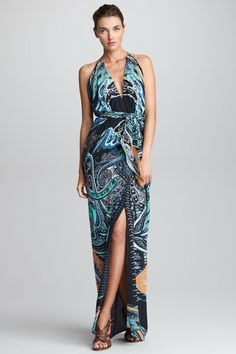 Belted Halter Gown