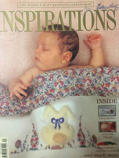 Inspirations Magazine: The World's most beautiful Embroidery Issue 20 -NEW-Unuse Rebecca Miller, Embroidery Transfers, Embroidery Patterns, Sewing Patterns, Feather Painting, Thread Painting, Smocking, Australia Country, Inspirations Magazine