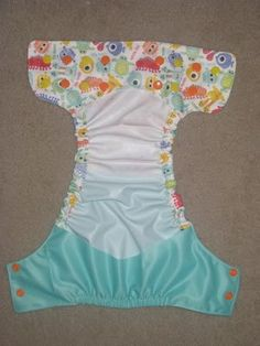 Example of a flip style diaper