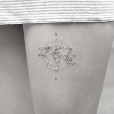 Delicate World Map by mr.k_tattoo