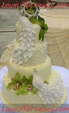 Свадебные торты с павлином -Wedding cake ideas with peacock feathers - Мастер-классы по украшению тортов Cake Decorating Tutorials (How To's) Tortas Paso a Paso