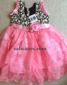 Indian Dresses: Baby Pink Designer Frock
