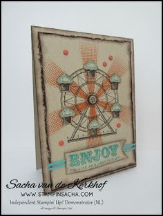 Stampin' Sacha - Stampin' Up! Stampin Up Carousel Birthday, Tango, Kids Birthday Cards, Circus Theme, Stamping Up, Cool Cards, Kids Cards, Vintage Cards, Homemade Cards